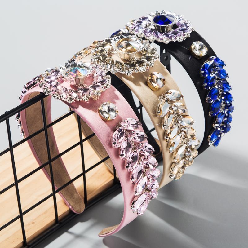 2020 Новые поступления Барокко Luxury Hairband для женщины высокого класса Super Flash Кристалл цветок и листья свадьбы и партии ободки