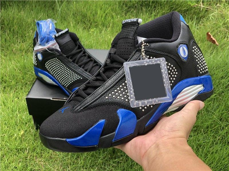 2020 Новый супбак в поддержке Supwhite Jumpman Обувь 14s Баскетбол Тренажи пустыни Песчаный тренажерный зал Красный Гром Черный Носок Шмель Chaussures High Mens Sneake