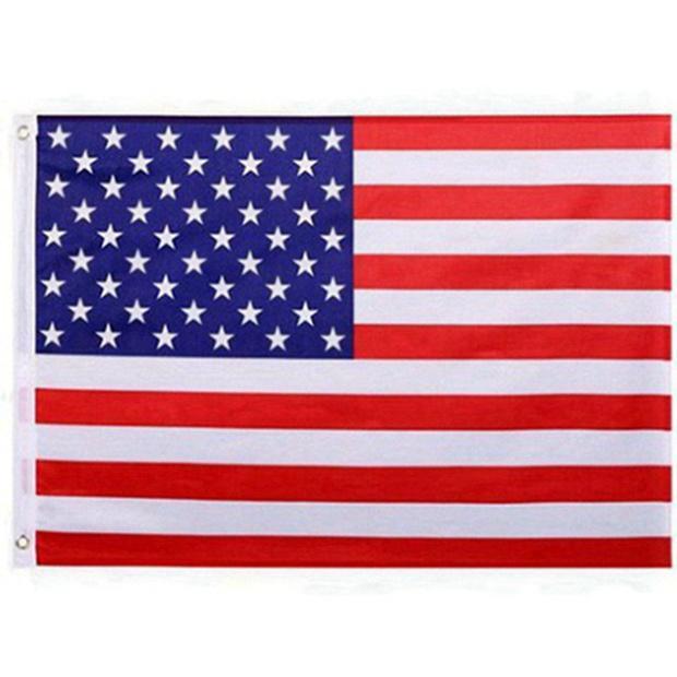 Drapeau américain États-Unis 50pcs Bureau Jardin Bannière Drapeaux 3x5 FT Banniere étoiles Qualité Stripes Polyester Drapeau robuste 150 * 90 CM