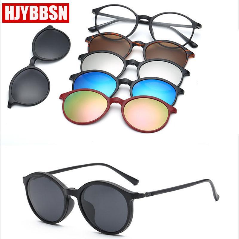 Unisex PC / Set Vidros Clipe Sunglasses Polarizado UV400 Vision Drive Amarelo Espetáculos em Óculos de Óculos ao ar livre Óculos Night Sun 5 Knqvw