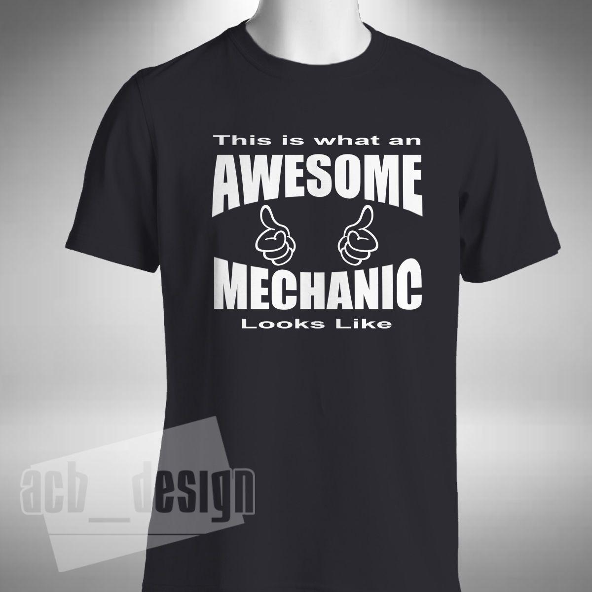 2019 shirt dos homens T-shirt do mecânico impressionante Moda de Nova Tee Bikes engraçado camião Car V8 Técnico Garagem Verão T-shirt