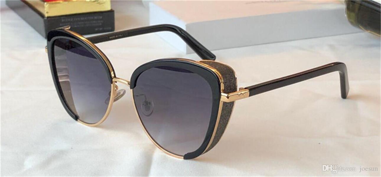 New Fashion Occhiali da sole popolari Jank / s Charming Cat Glass Blocco cornice con maschera per occhio lucido di alta qualità Semplicemente generoso occhiali protettivi UV400