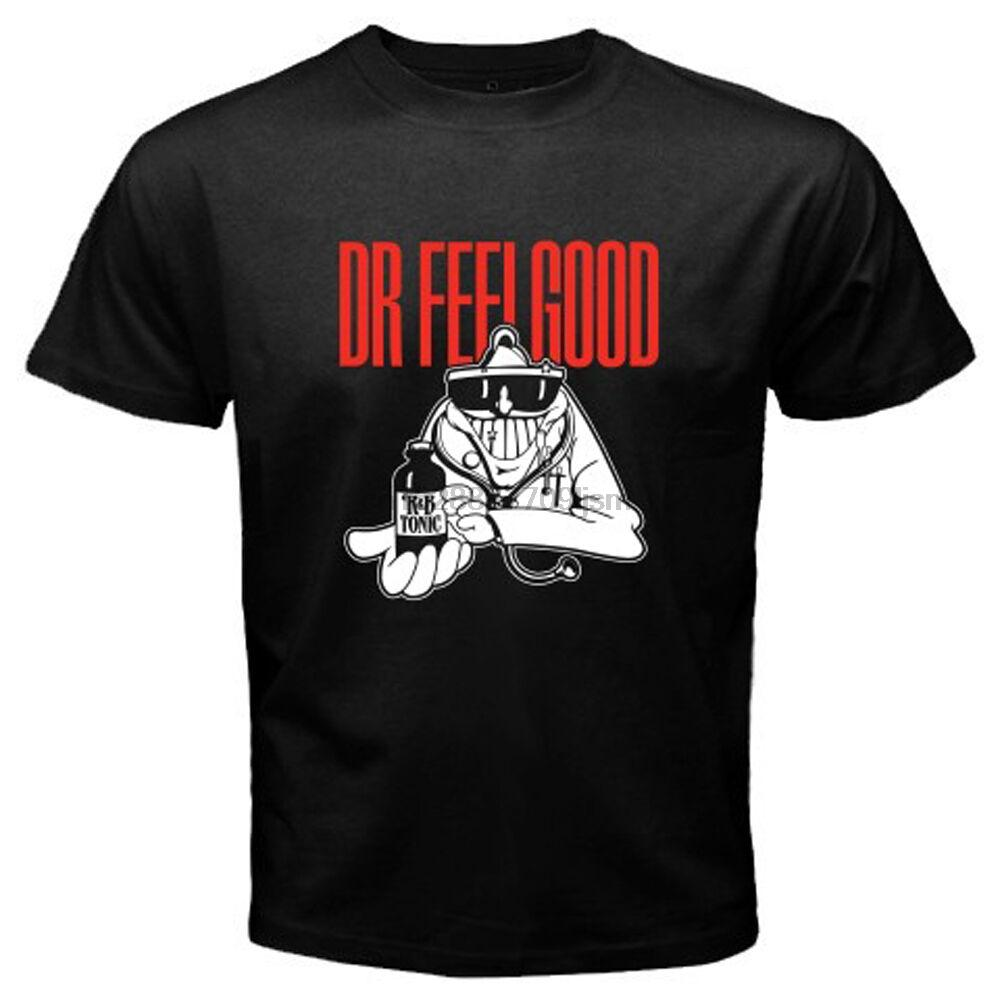 Nuova Dr. Feelgood British Pub stupidità Rock Band Mens maglietta nera formato S-3XL