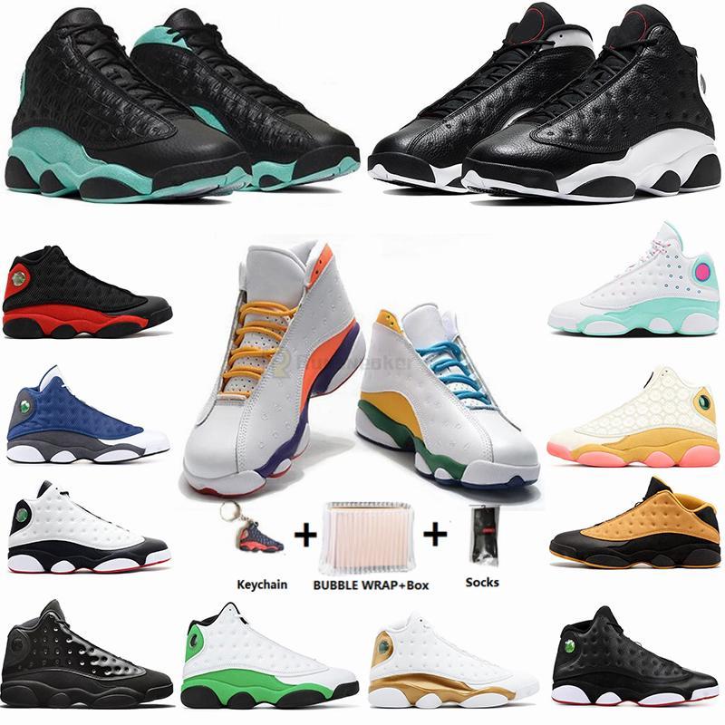 С коробкой размером 13 Jumpman 13s Playground Cny Flint Revers Reverse он получил игровой остров Aurora Green Womens Mens Basketball Shoes кроссовки