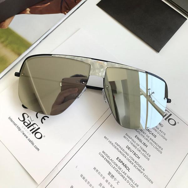 فاخر الجديدة 0724 نظارات للمصمم أزياء الرجال نصف الإطار الأشعة فوق البنفسجية حماية عدسة شعبي الصيف نمط النظارات الشمسية أعلى جودة تأتي مع القضية