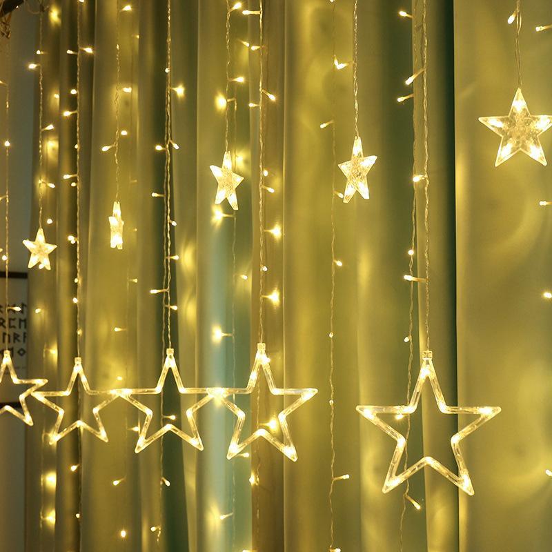 Decoraciones de Navidad cadena luz LED para el hogar interior del carámbano cadena luces al aire libre STAR para el banquete de boda de las luces de hadas de la decoración cortina Lámparas
