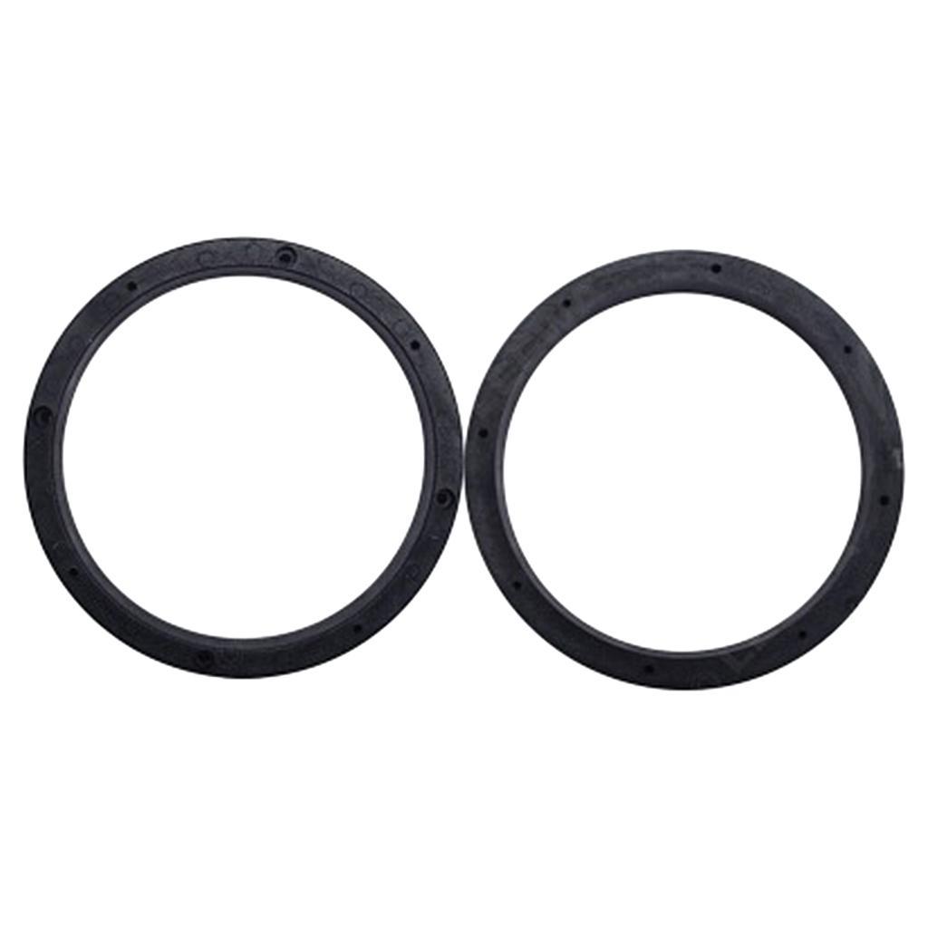 2adet Evrensel Katı Siyah 6.5inch Araç Stereo Ses Hoparlör Ara Halkalar∂ Adaptörü Montaj
