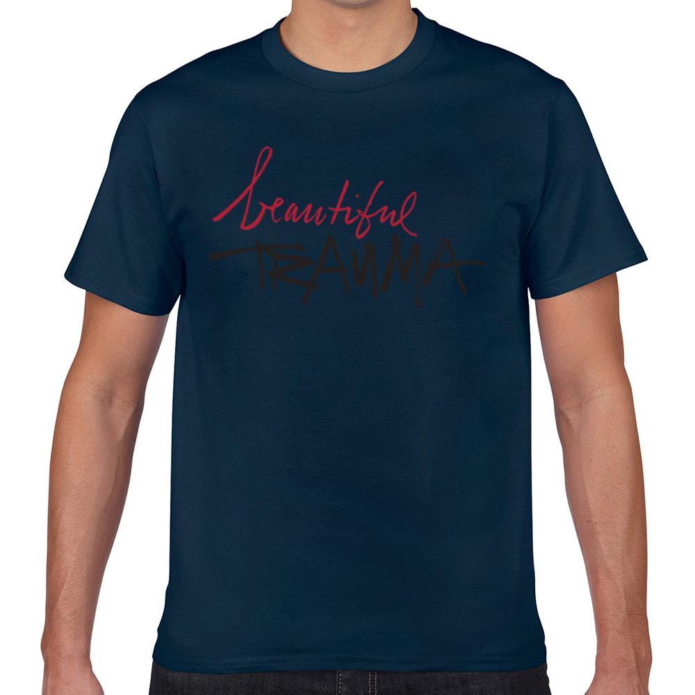 Tops camiseta de los hombres Beautifultrauma Humor negro varón de la impresión camiseta