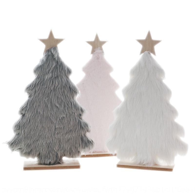 Decoración fEGTz New Nordic luces de Navidad tienda de felpa de madera restaurante 68cyE cara tela de cara diseño paño de Navidad de los niños del árbol de regalo