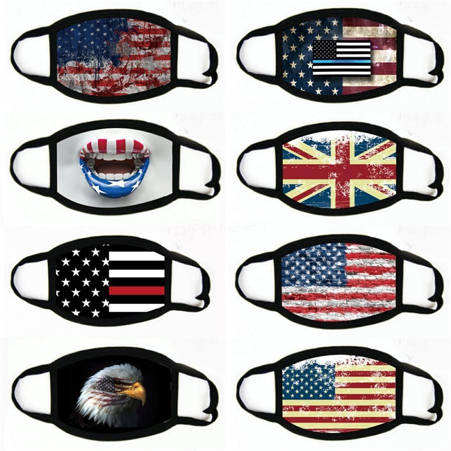 A máscara Pesca American National face Bandeira Ciclismo Multifuncional exterior Desporto Gaiter face da tampa Bandanas para mulheres dos homens # 105