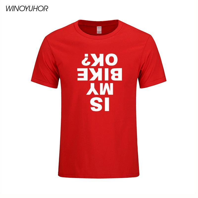 IS Motorcu Tamam Bisiklet Hediye Tişörtlü Yenilik Komik Erkekler Rasgele Kısa Kollu Camisetas Tees Tops tişört yazdır