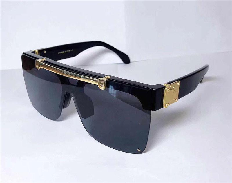 Occhiali da sole di modo di disegno 1194 Piazza Mezza cornice di vibrazione di disegno della parte superiore di qualità Avanguardia Style Occhiali esterna con il caso