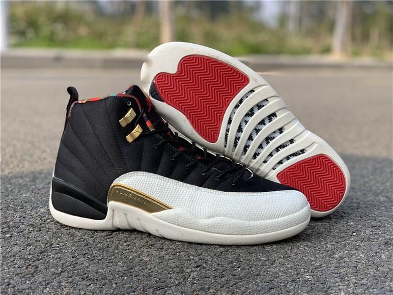 2020 Новый 12 Камень черный Dark Concord Обратный Flu Game OVO Баскетбол обувь 12s Плей французские черные туфли