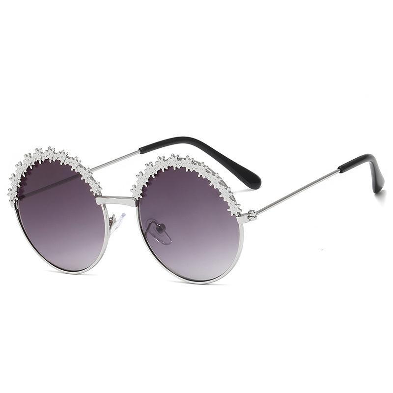 الفتاة الإطار أزياء النظارات الشمسية زهرة الزهور تصميم المعادن المضادة للأشعة فوق البنفسجية نظارات شمس للحزب التصوير الفوتوغرافي شاطئ في الهواء الطلق