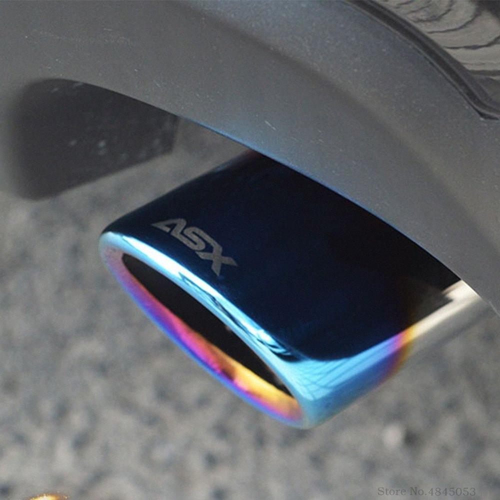 Silenciosos carro para Mitsubishi ASX 2013-2018 escape cauda Mufflers Dica Tubo Protector Universal cauda tubo de saída do bocal ZZPj #