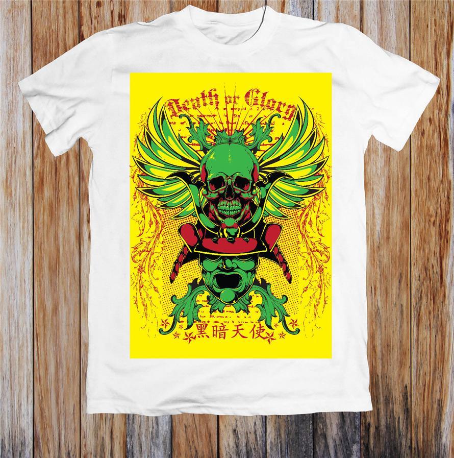 Ölüm Veya Glory Unisex Tişört Retro Tee Gömlek