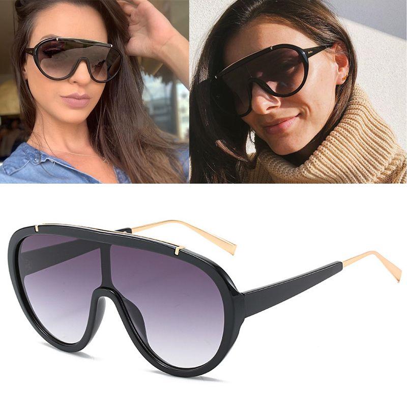 Модная рамка Большая новая рамка Sounoine Piece Damies DPZ Goggles Солнцезащитные очки Солнцезащитные очки 2020 Большой Атаов