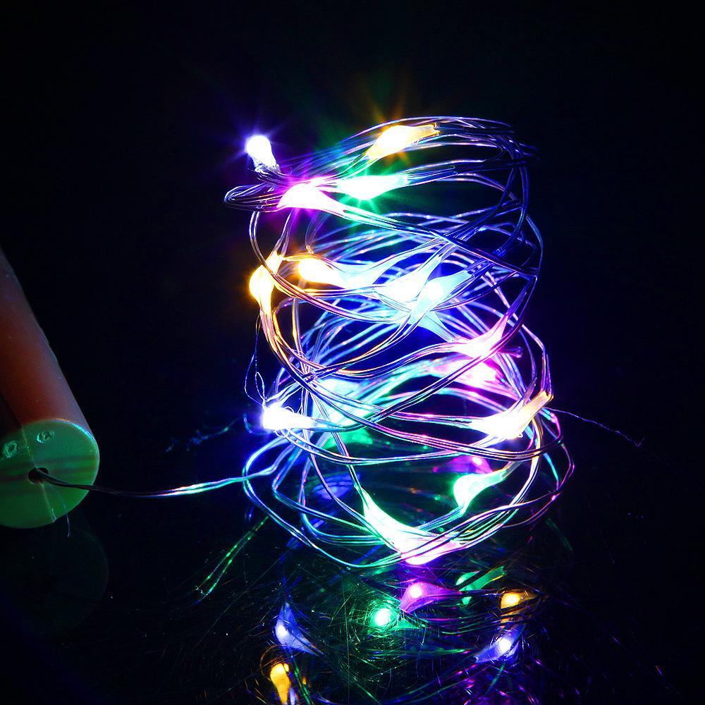 Luzes de garrafa de vinho com cortiça em forma de 200 pcs / lote 0,75m 1m 2m mini LED luzes de fadas para DIY Halloween Decoração de quarto de casamento