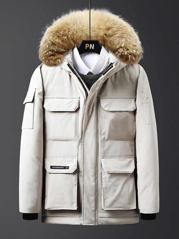 Mens chaqueta de abrigo capa de la manera de los hombres Mantener capas calientes con capucha capa ocasional de alta calidad gruesas chaquetas 3 colores