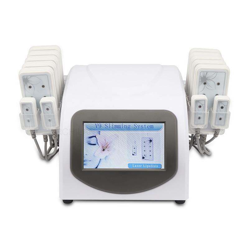 전문 휴대용 Lipolaser 기계 다이오드 Lipo 레이저 지방 분해 레이저 지방 굽기 바디 슬리밍 체중 감소 비 침습적 (14 개) 패드