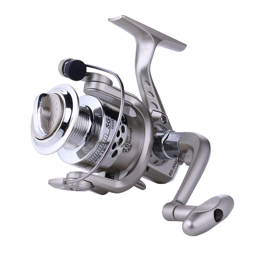 熱い販売4 + 1ベアリングスピニングリール卸売クナイ釣りリールスピニングリールSG-4000(F)釣り
