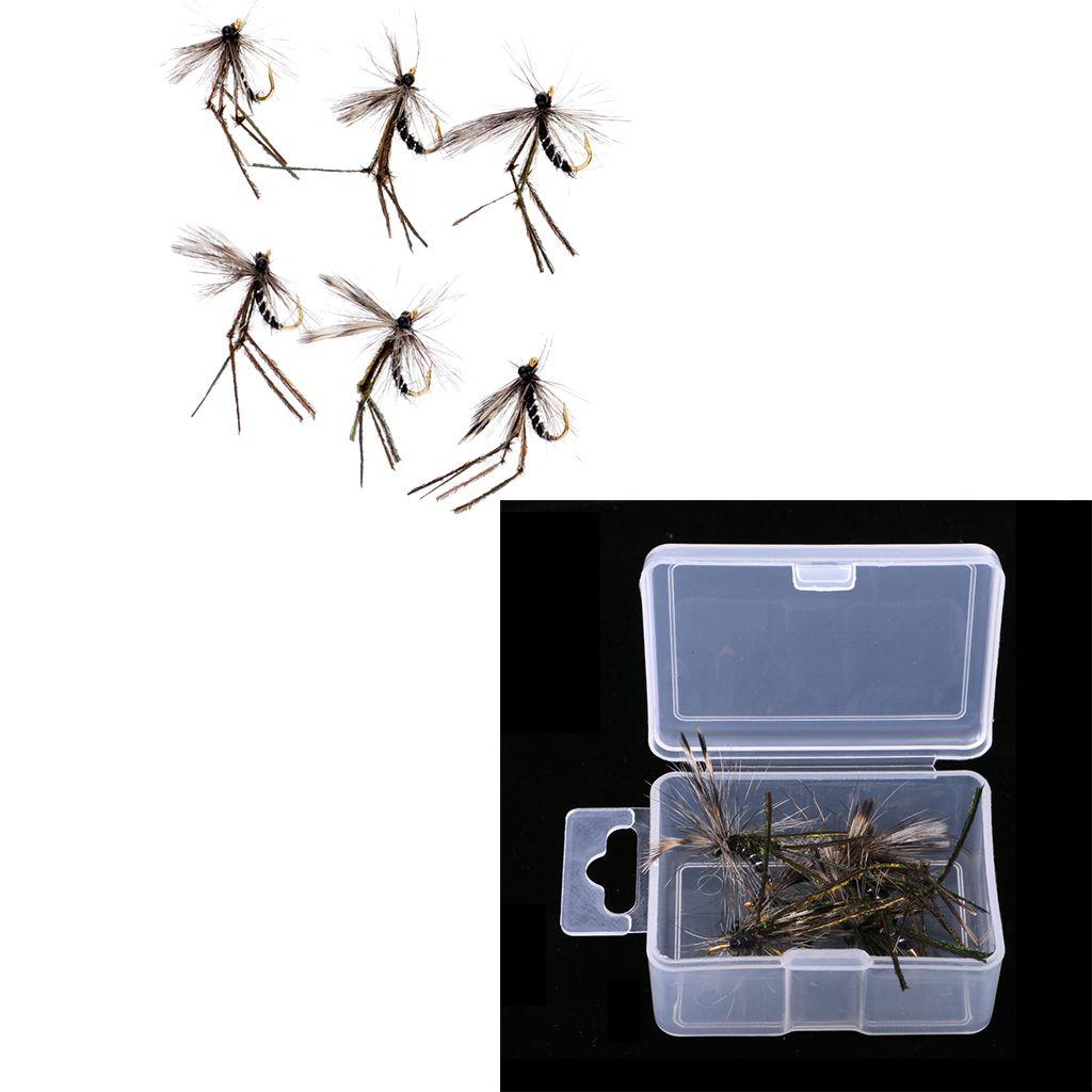 12st Artificial Mosquito Bait Fliegenfischen Trockenfliegen Bass Forelle Lachs Lure