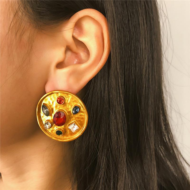 Moda Donna gioielli Circle Smooth Ear Stud regalo del commercio all'ingrosso