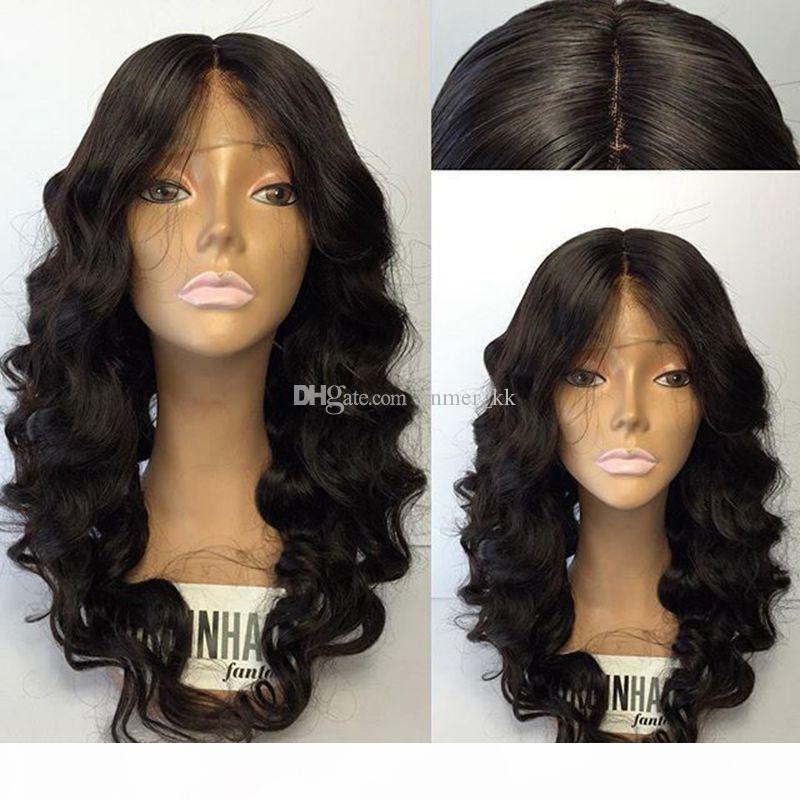 Parrucca di capelli Colore corpo Glueless merletto pieno dei capelli umani parrucche per le donne Black Wave capelli pre pizzico merletto pieno con bambino brasiliano Remy