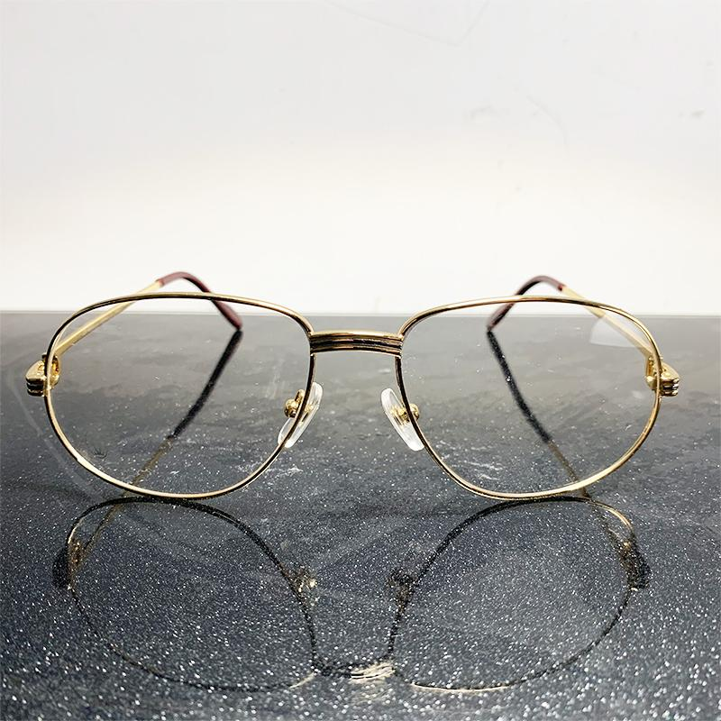 Retro Eyeglasses Frames Carter Gold Eye Glasses Clear Lens Transparent Eyewear Luxury Reading Optical Frames Wholesale Glass