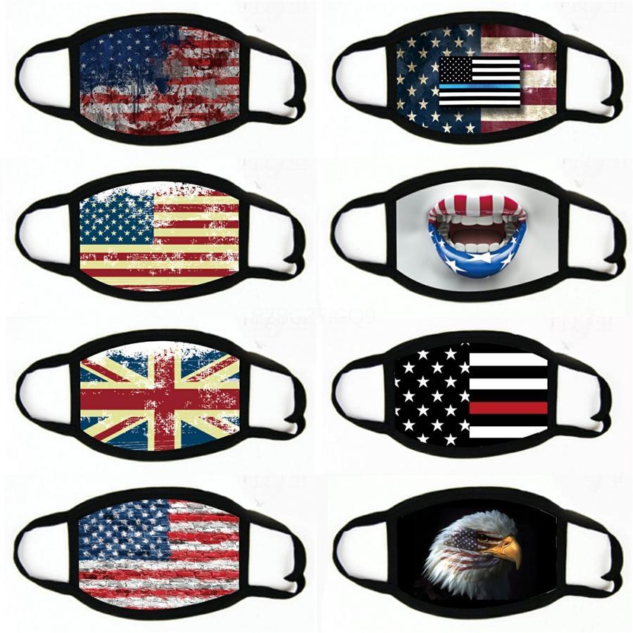 Nouveau Masques Drapeau américain Impression numérique magie visage écharpe multifonctionnelles masque extérieur cou bande Bandeau Designer Masques # 738
