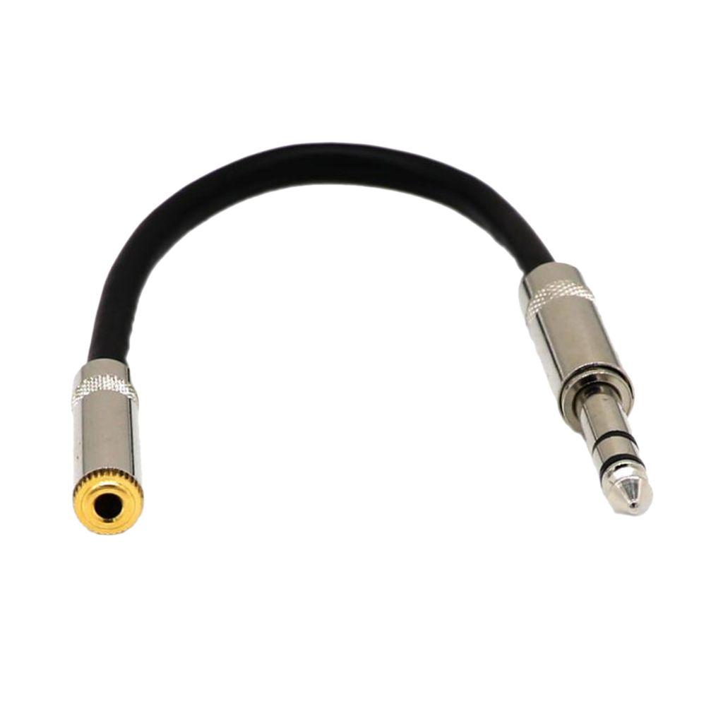 6,35 milímetros 1/4 \ '\' Masculino plug para 3.5mm 1/8 \ '\' Feminino Jack Stereo Cord Mic cabo de áudio