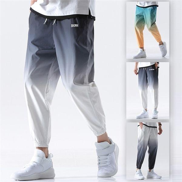 Mens Pants lunghezza jogging Streetwear allentato della caviglia pantaloni a vita elastica 2020 di estate il nuovo casual maschile Sport Hip Hop Sweatpants