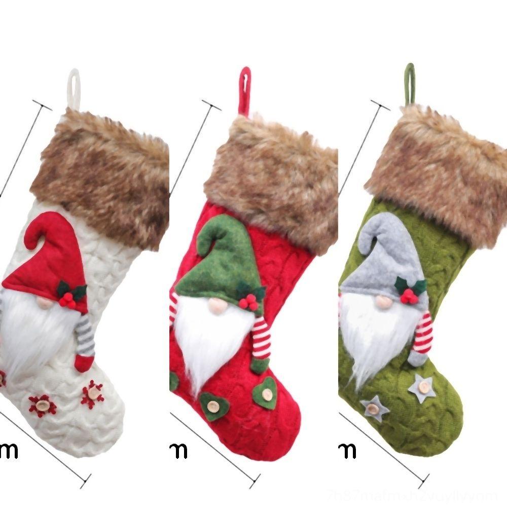 Tabla WmSfn hecho a mano sueca Decoraciones del árbol de Tomte de Santa Nisse Gnome hotel felpa Decoraciones Elf calcetines ornamento del juguete de Navidad escandinava nórdica
