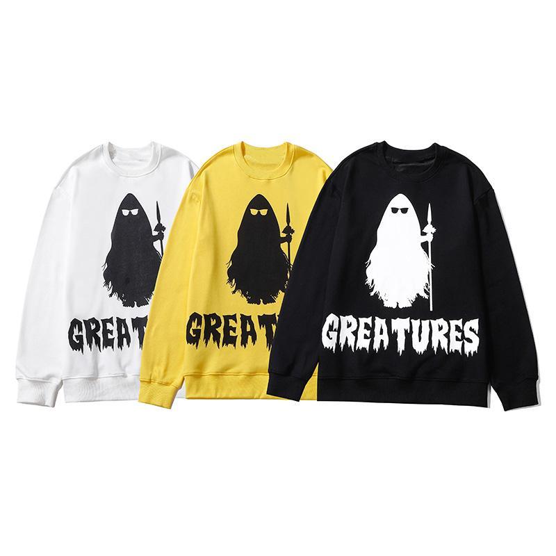Мужская мода Hoodie 2020 осень зима высокого качества женщин способа печати вскользь Грейс свитер с длинными рукавами Размер M-2XL