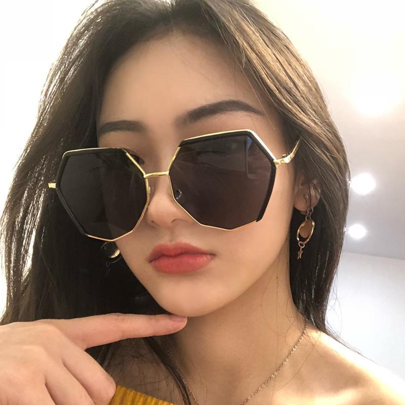 Ulzzang Nouveaux lunettes de soleil Korea Streetwear Vintage Femme Vintage Harajuku Sunglasses occasionnels Simple Femmes Personnalité Mode Ins
