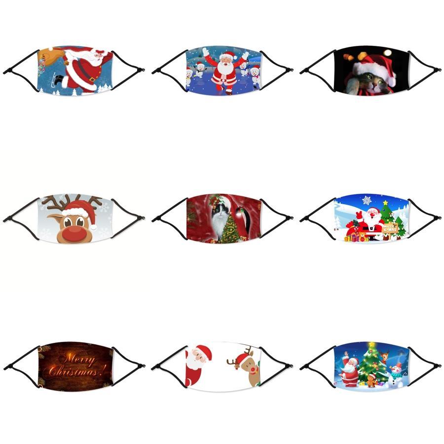 Máscara máscaras Moda reutilizable lavable Navidad Niños de Navidad Cara Máscaras del polvo anti niebla Cara Boca Navidad a prueba de polvo respirable unisex # 423