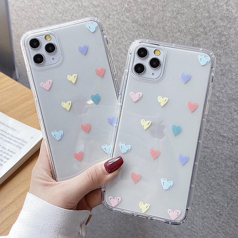 Amore cuore Saluto Poin telefono trasparente di caso per iPhone SE 11Pro Max XR XS Max X 6S 7 8 Inoltre Soft Cover per iPhone 11