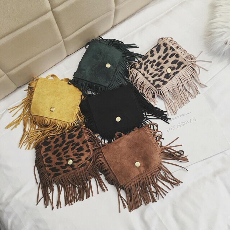 محفظة 7 ألوان ماركة الاطفال شرابة البسيطة رسول حقيبة الفتيات حقائب عملة الأطفال حقائب الكتف