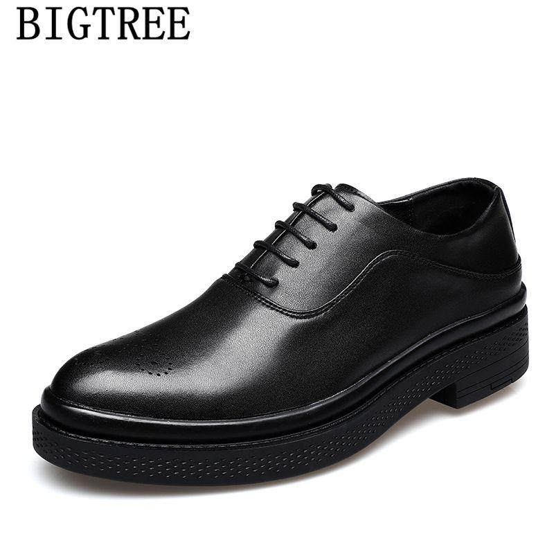 Sapatos de couro Homens Formal Brogue sapatos Homens de Luxo Clássico Vestido italiano Escritório Vestido Brown Zapatos De Hombre