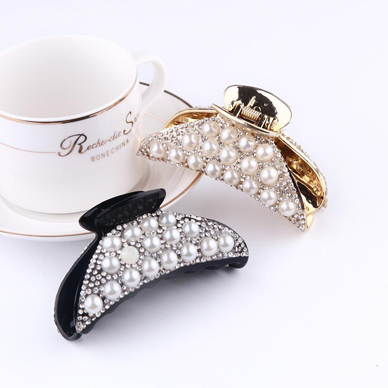 Fashion Hair Accessories Pearl Hair Claw Clips for Women Crab Accessories Crystal Claws Clip Hairclip Hairpins Clamp Jewelry Gift