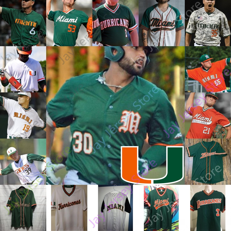 Miami Hurricanes Beyzbol Forması NCAA Koleji Alex Toral Ryan Braun Yasmani Grandal Alex Fernandez Adrian del Castillo Raymond Gil Jenkins