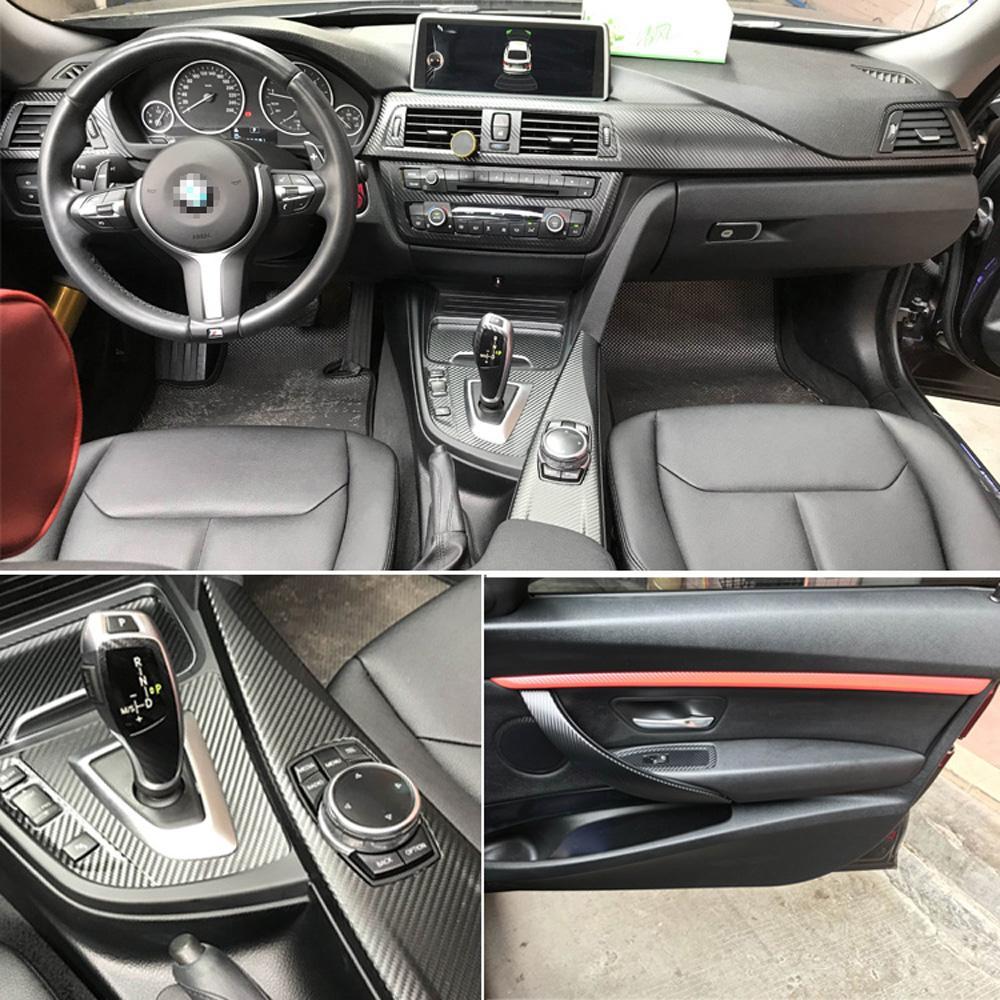 BMW 3 Serisi F30 F31 F32 İç Merkez Kontrol Paneli Kapı Kolu 5D Karbon Elyaf Çıkartma Çıkartmaları Araba Aksesuar stil için