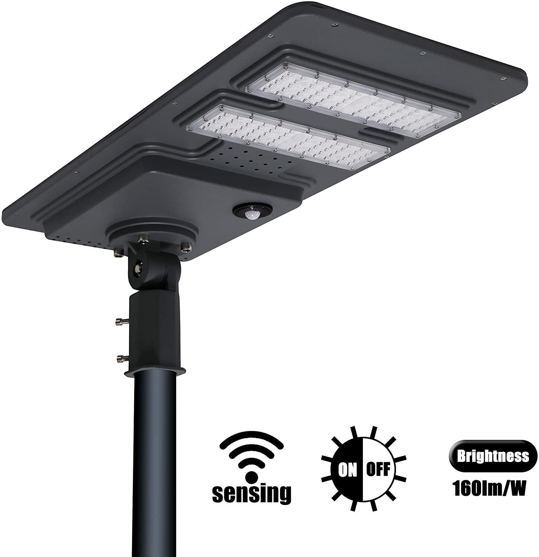 Umlight1688 Integrierte All in One 80W im Freien Solar-Straßenleuchte 40W 60W MONO Solar Panel 18V High Level Projekt solsr Straßenlaterne