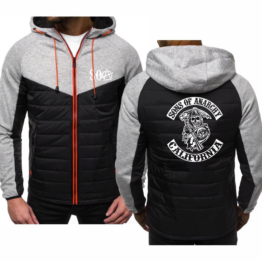 SOA Sons of Anarchy l'enfant Mode Crâne Hommes Vêtements de sport Sweats à capuche Homme Casual Zipper manches longues Cardigan Outwear
