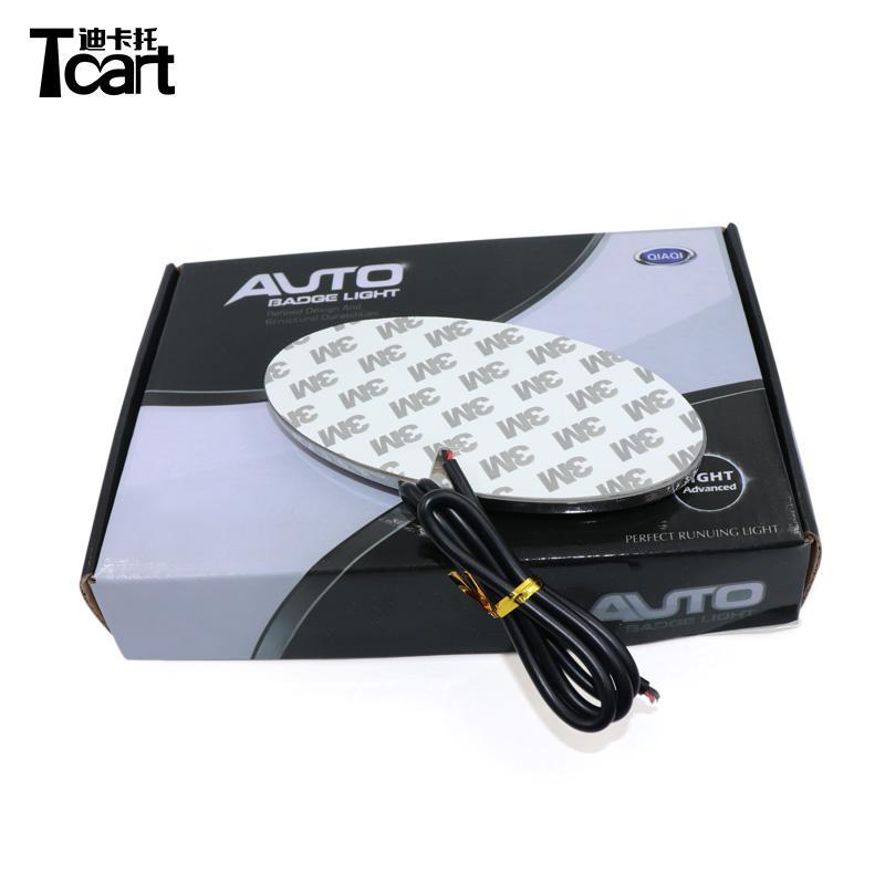 TCART 4D Emblem Lampe de lumière LED Badge arrière Autocollant Autocollant LED 4D Logo Emblèmes pour Kia