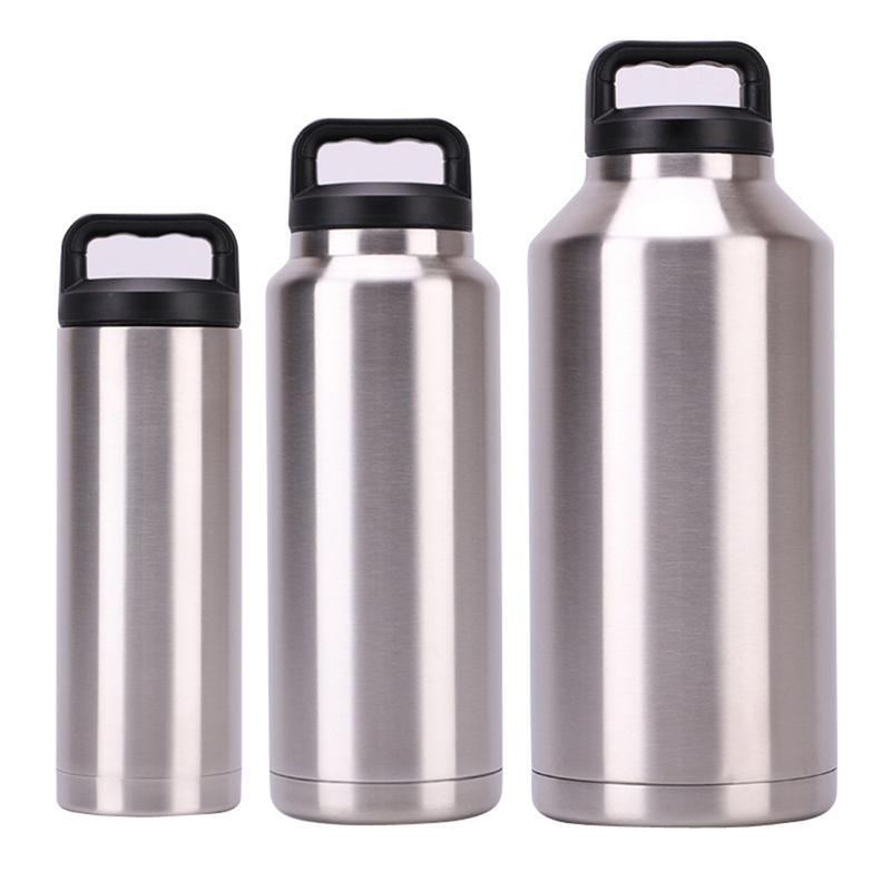 18 oz 36 oz 64 oz in acciaio inox Bicchiere vuoto isolato tazza di acqua tazza della bottiglia della tazza di caffè di alta capacità con coperchio