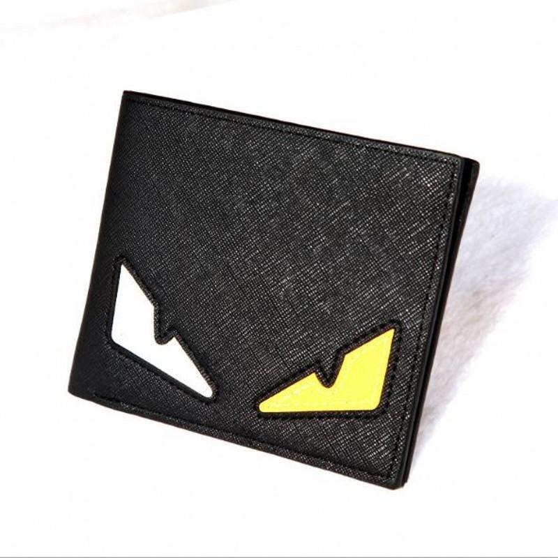 Anime curto Mini Eye da bolsa da carteira de bolso Homens Carteiras de couro bolsas Carteira Masculina Couro Portefeuille Homme billetera hombre # 124805