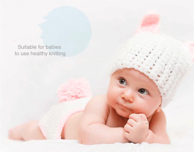 цвет 50 граммов 4 Strand молоко волокна шерстяной пряжи DIY ручной вязать детские игрушки куклы свитер шапка шарф вязание шерстяной пряжи ковер