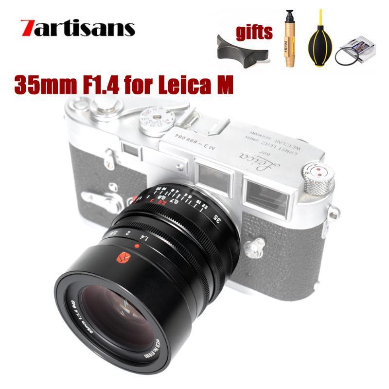 7Artisans 35mm F1.4 lente de la cámara para el manual de la lente Leica M montaje de cámara de enfoque MF para M-M M240 M3 M6 M7 M8 M9 M10