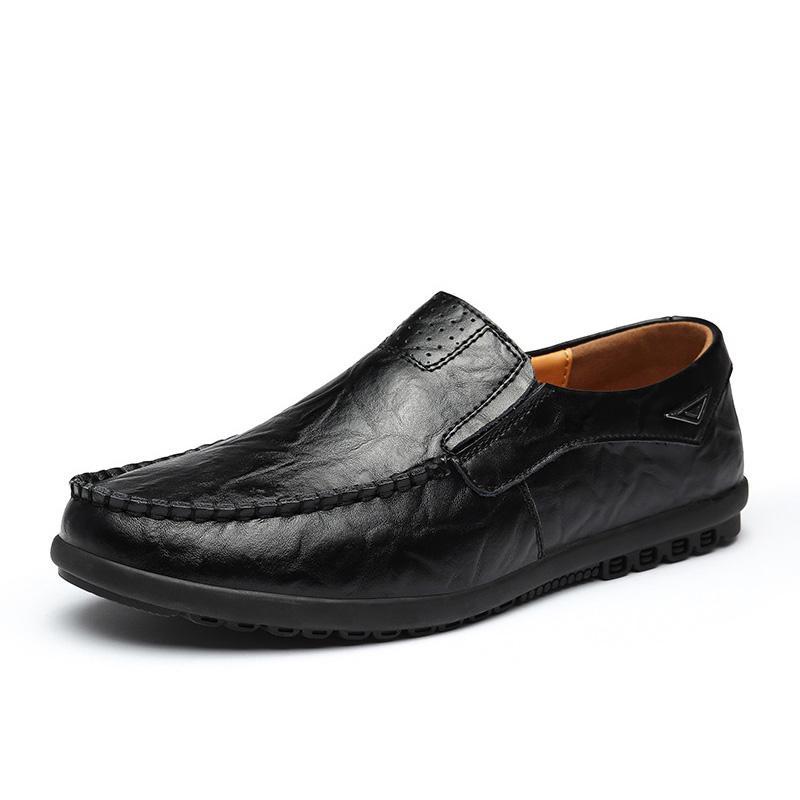Scarpe Uomo casuale più Dimensioni Mocassini in pelle scamosciata Slip-on Brown Mens Dress scarpe comode Flats Mocassini